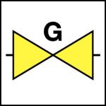 afsluiter gas pictogram